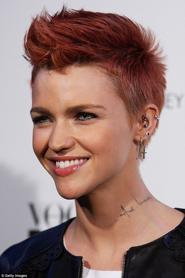 Ruby Rose Almost Unrecognisable In Throwback Photo Aged Four Years - Undercut hairstyle ruby rose