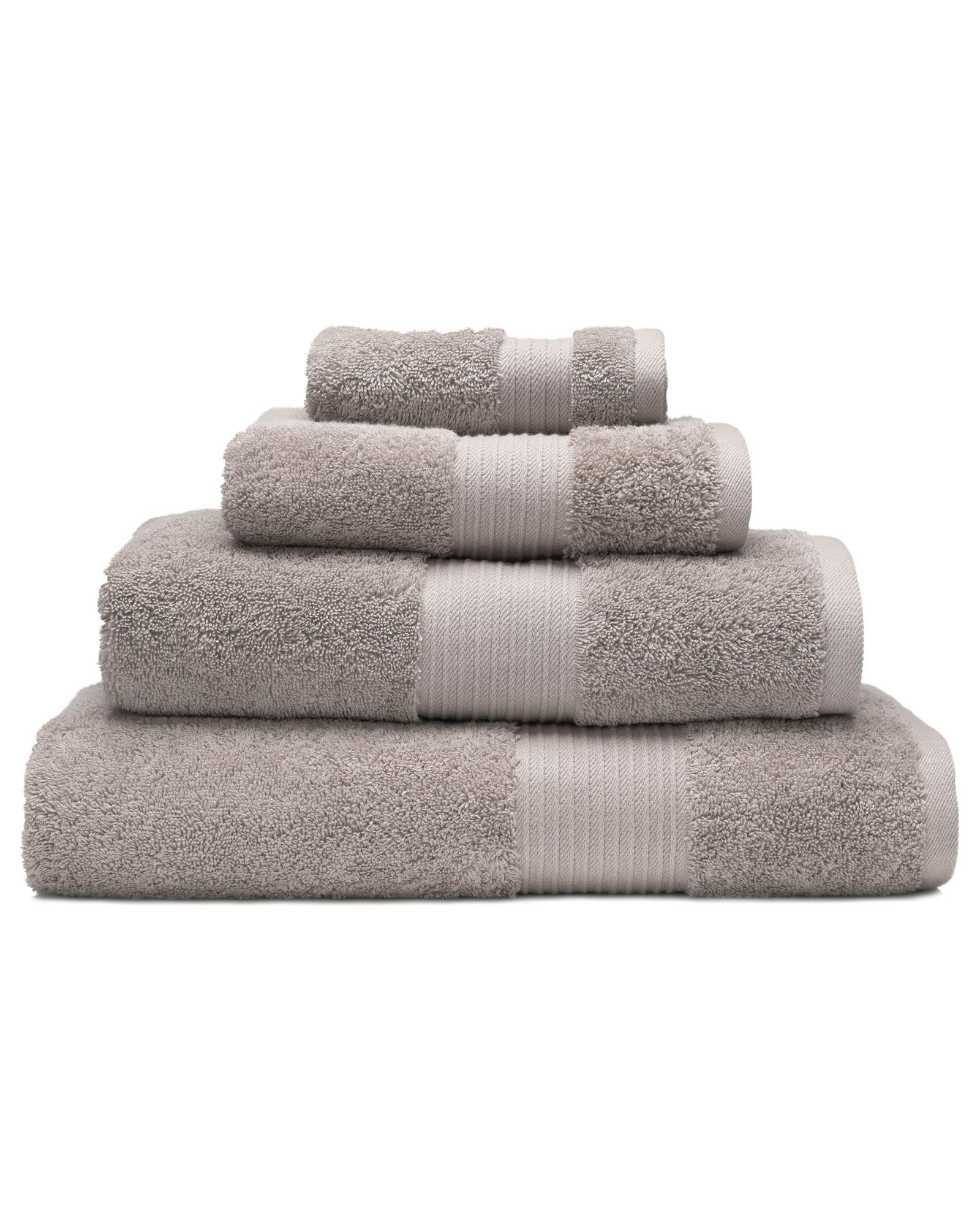 Pima 650g Face Cloth 2 Pack Towel Set Grey Bath Towels Turkish