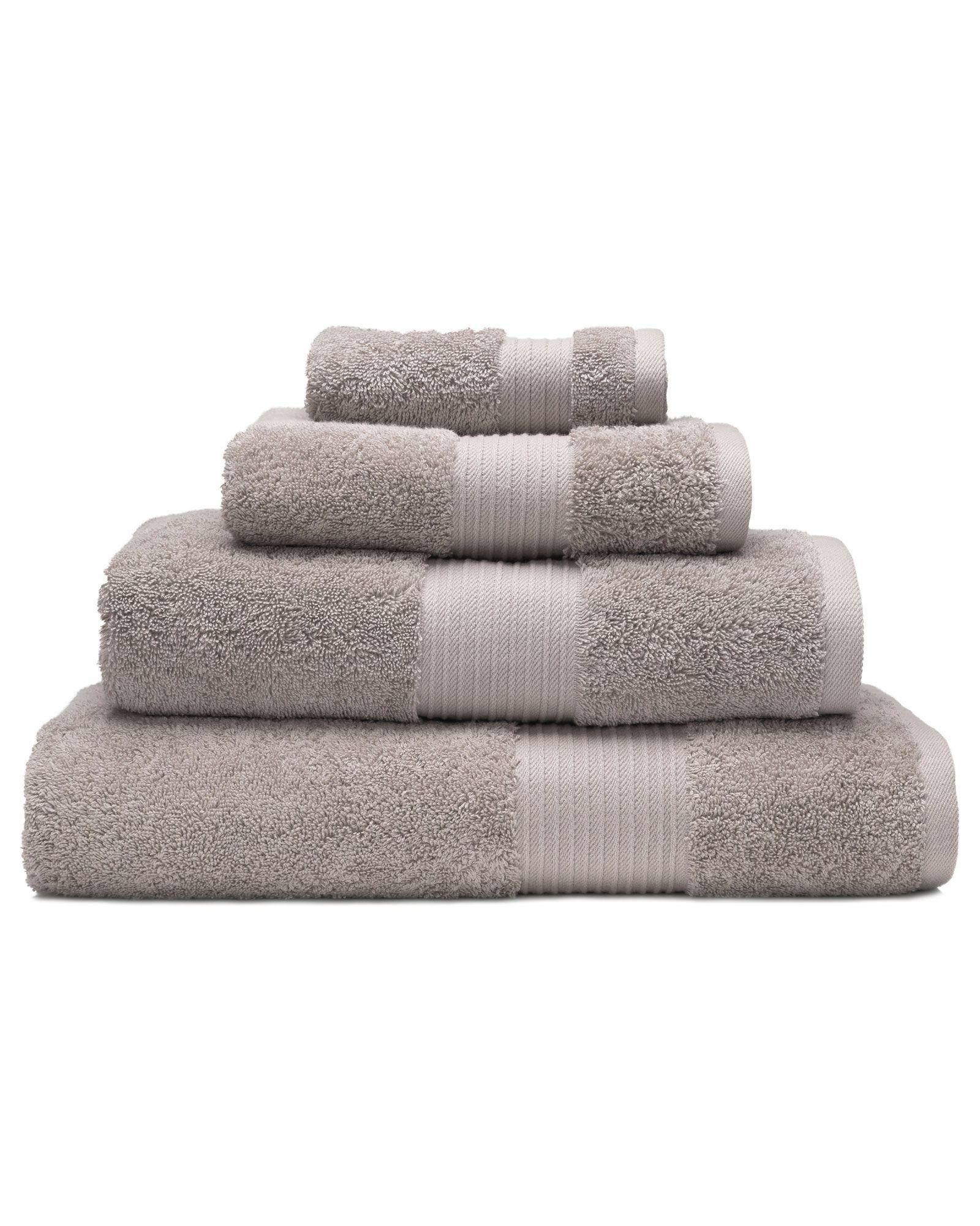 Pima 650g Face Cloth 2 Pack Towel Set Grey Bath Towels Turkish Cotton Towels