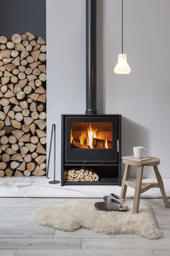 Hygge Home For Winter Trend Center By Rugs Direct Contemporary Wood Burning Stoves Freestanding Fireplace Wood Burning Stoves Living Room