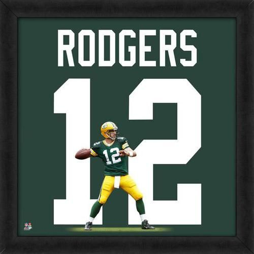 Aaron Rodgers framed Green Bay Packers jersey photo. This photo has ...