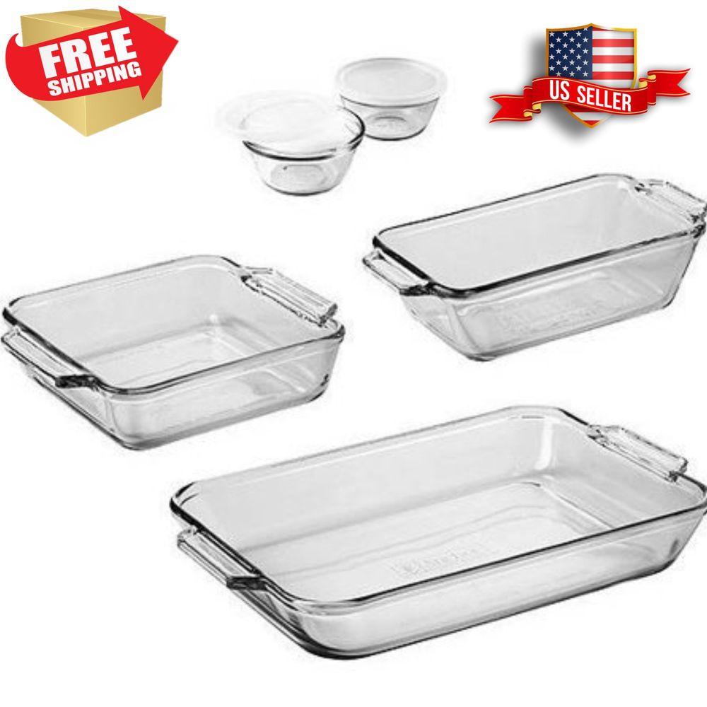 Details about 7pcs bakeware set rectangular pans cups w