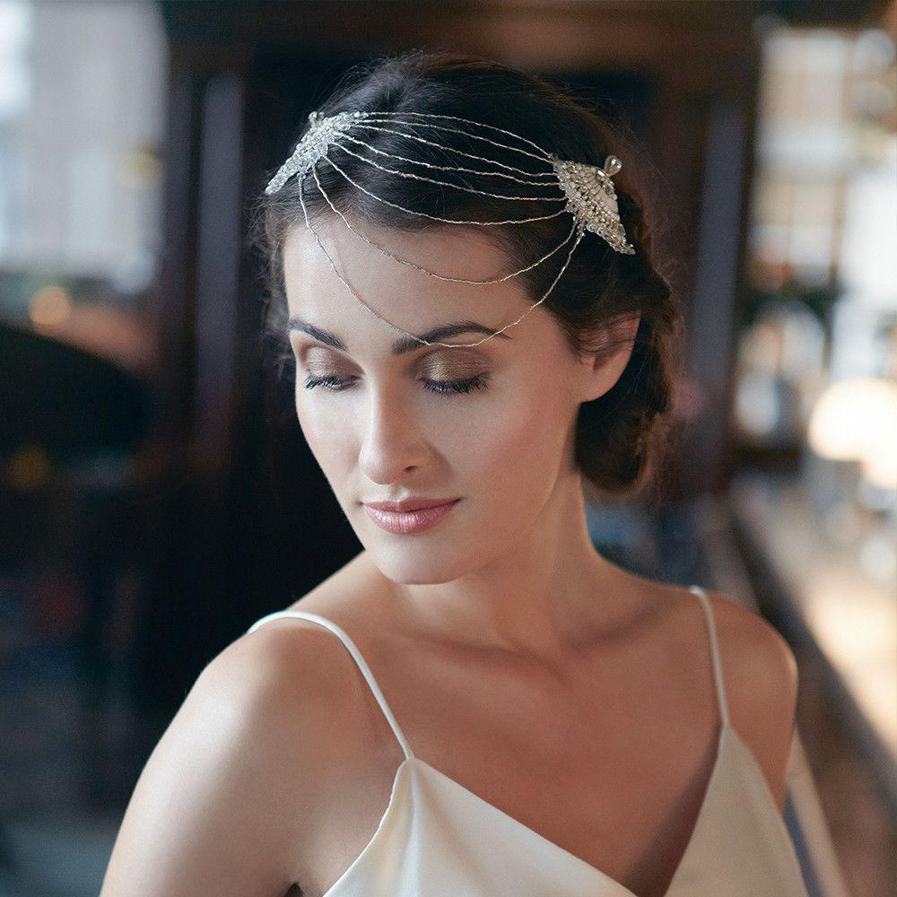 Double Fan Drape Hair Accessory   Emmy London   Fan Vintage Inspired
