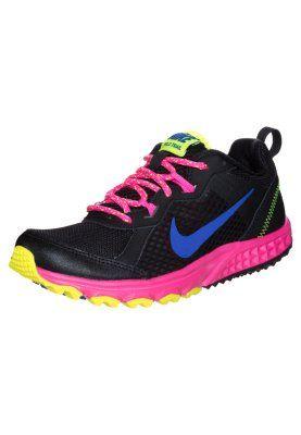 Nike Performance WILD TRAIL - Løbesko trail - black/hyper cobalt/hyper pink - Zalando.dk
