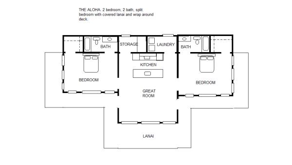 2 Split Bedroom Floor Plan Smallbedroom Floorplan Pool House Plans Bedroom Floor Plans Guest House Plans