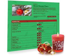 Planning a potluck holiday party? Using an online sign up sheet makes it easy for your guests to RSVP and sign up to bring something.
