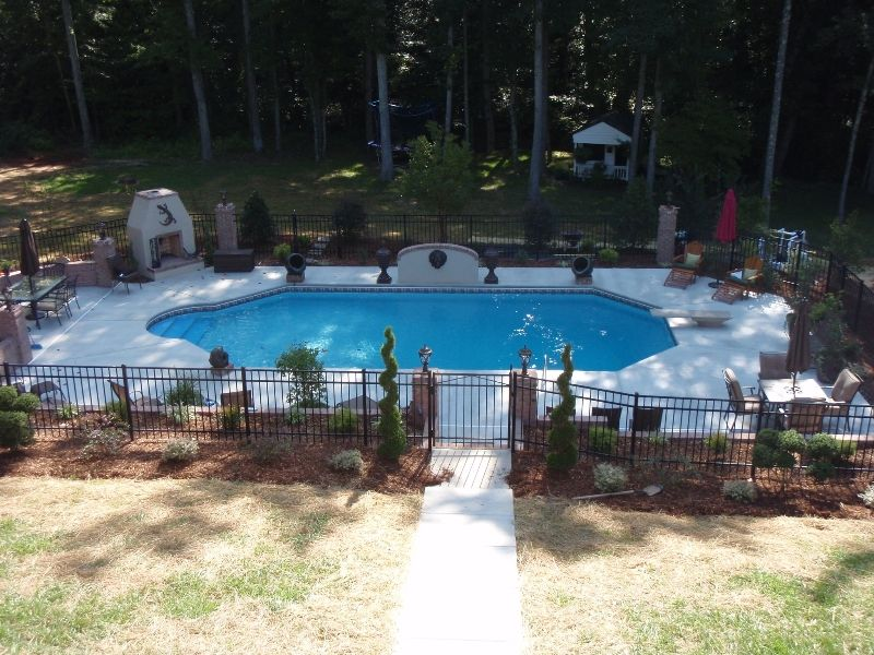Charlotte Pool Photos, Vinyl Pool Photos geometric pool design with ...