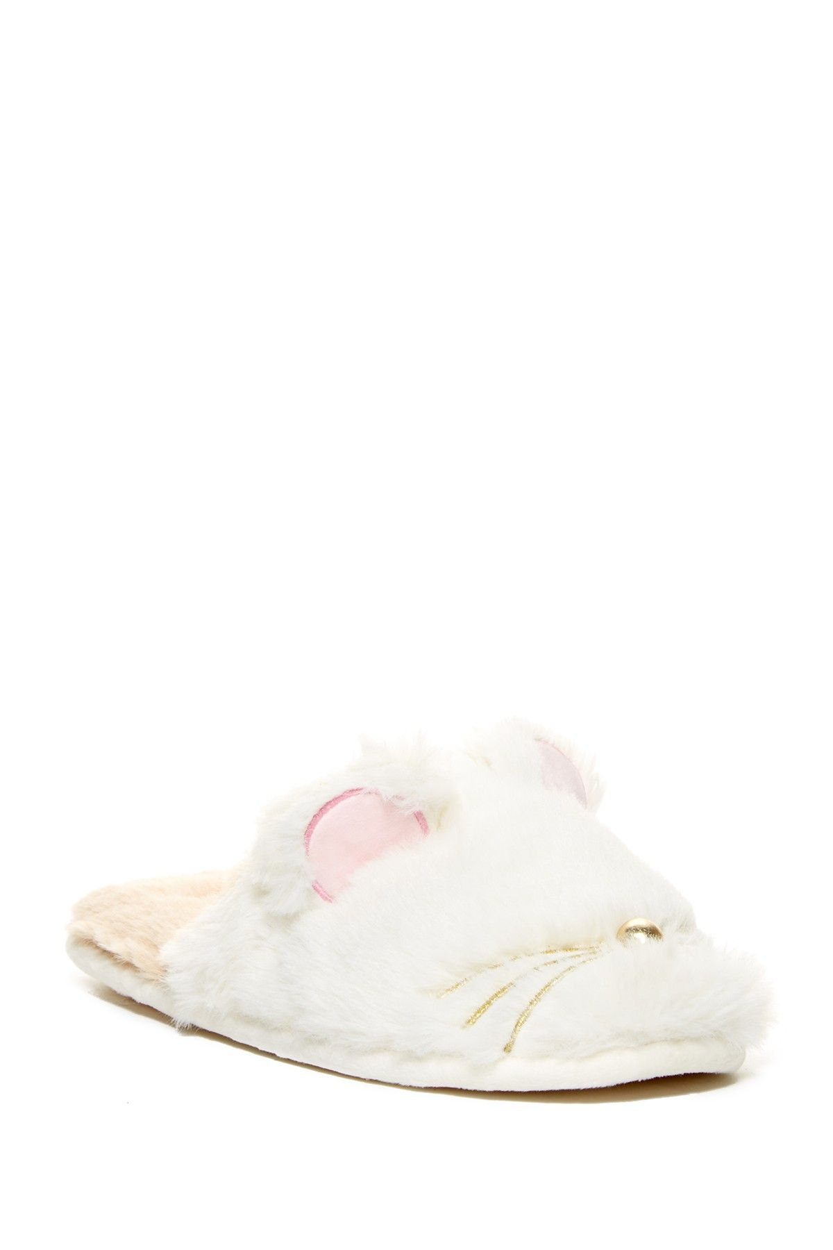 Chinese Laundry Faux Fur Critter Scuff Slipper Slippers