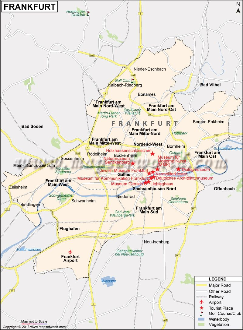 Frankfurt Map City Map Of Frankfurt Germany Frankfurt Map Germany