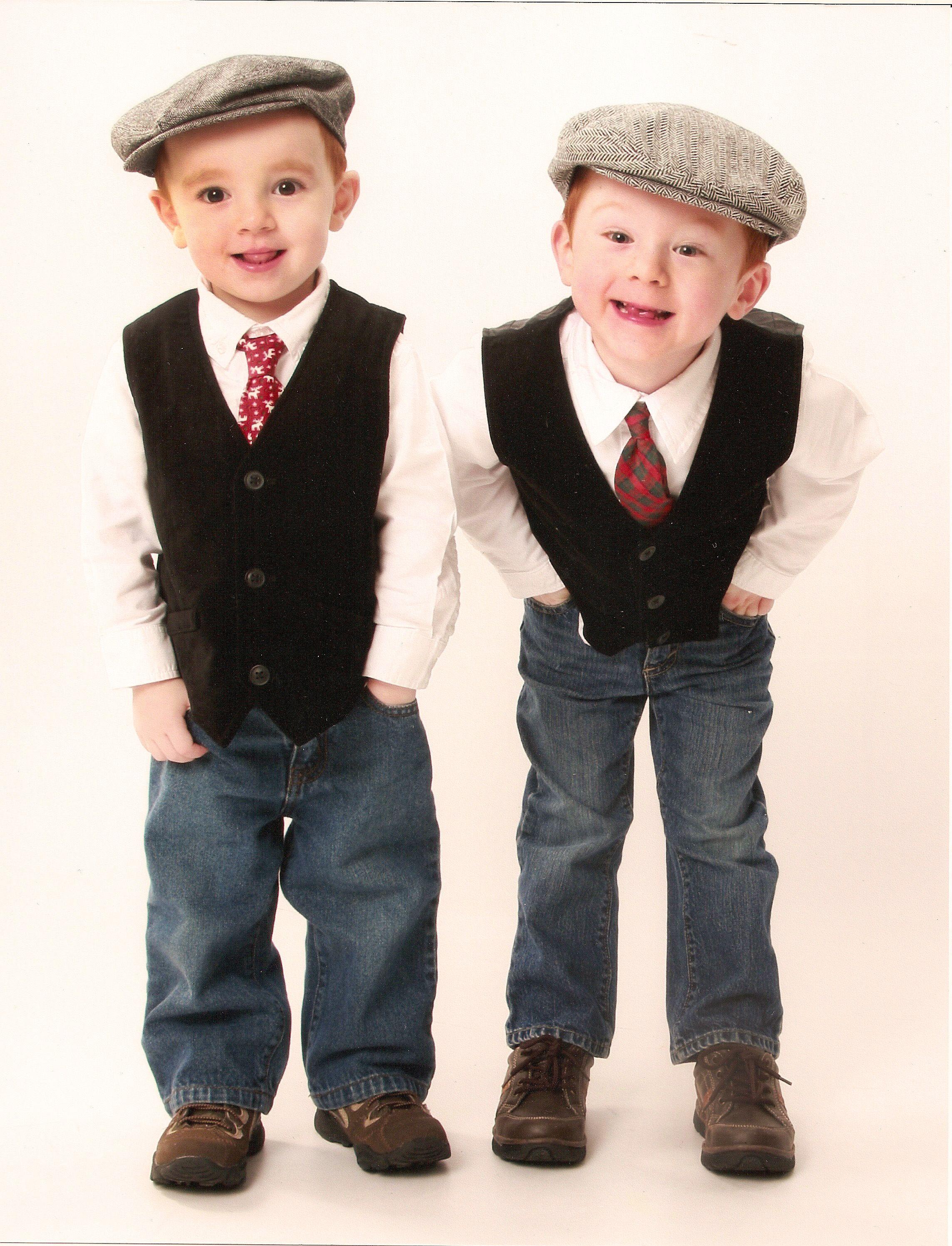 725e7d380ce9 Little boys dressed as dapper little men.