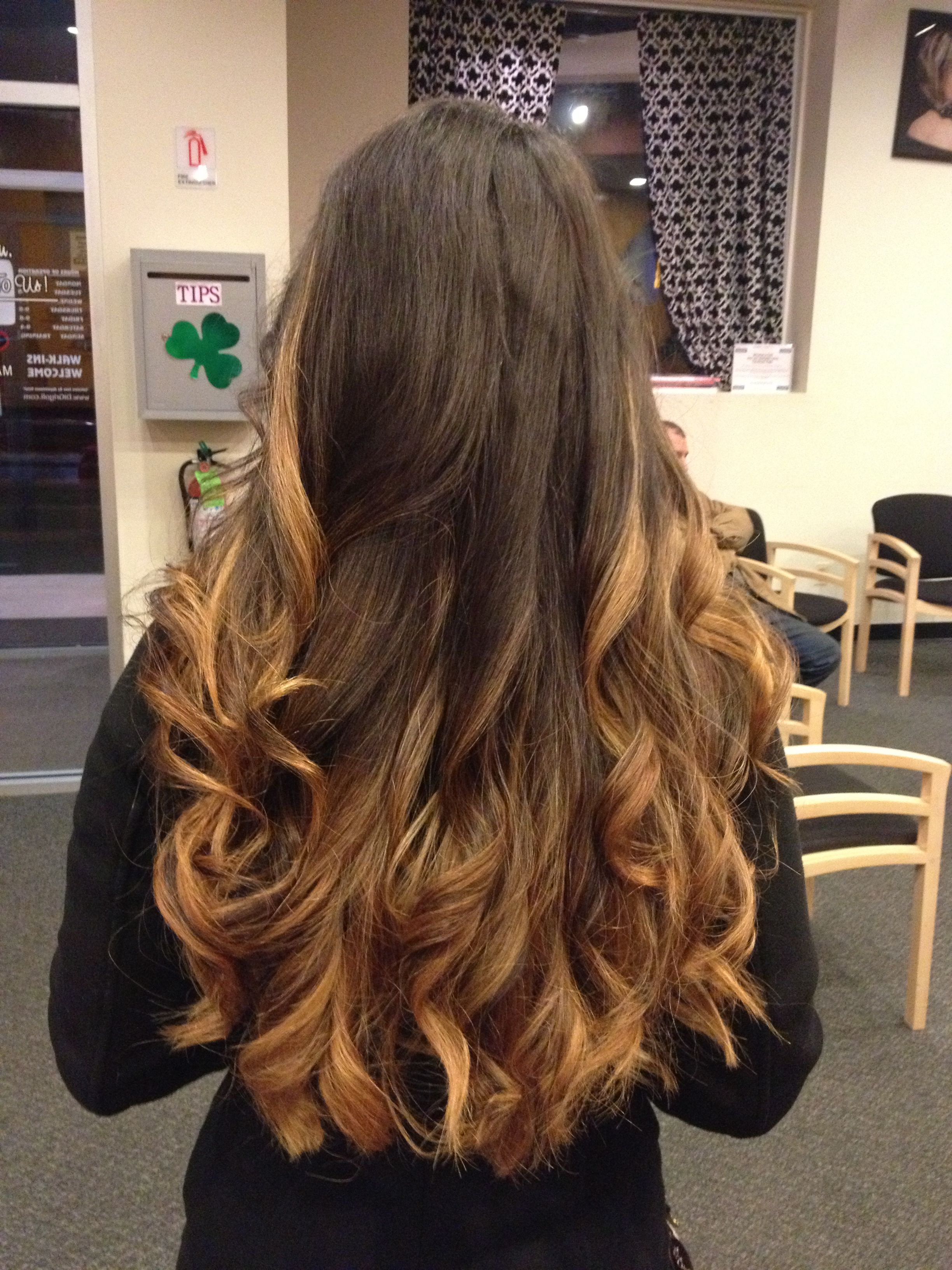 My brown to blonde ombre <33
