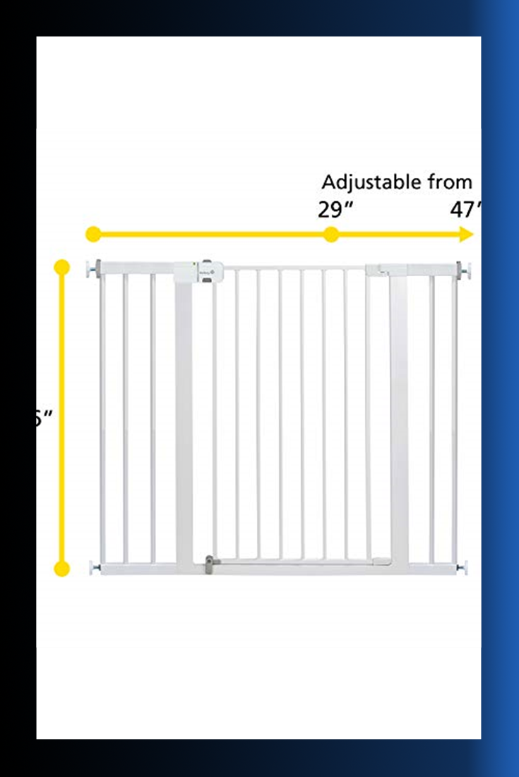 Safety 1st Easy Install Extra Tall and Wide Baby Gate with