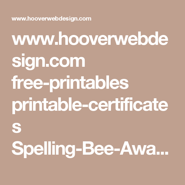 www.hooverwebdesign.com free-printables printable-certificates ...