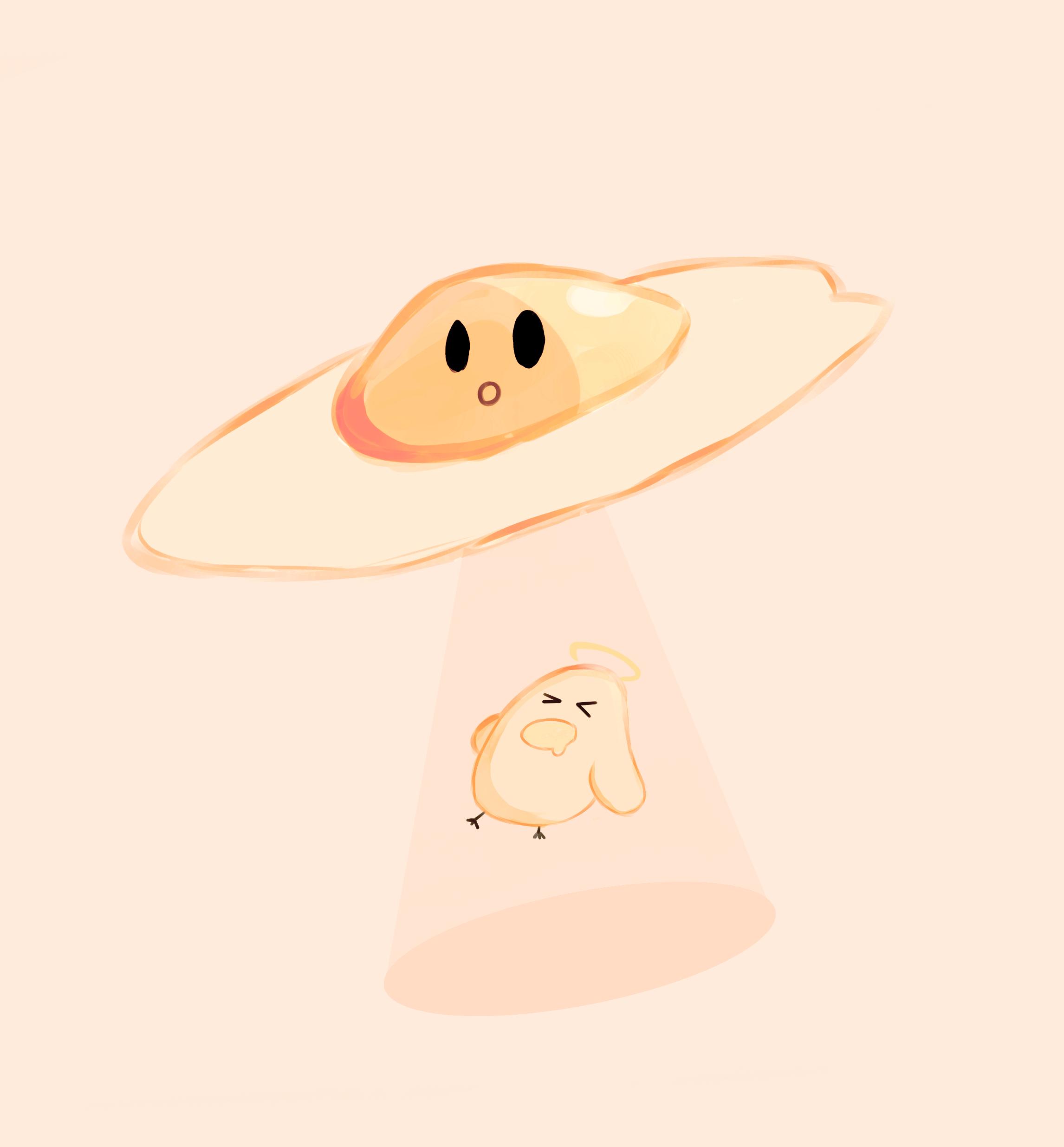 cute egg breakfast Illustration Twitter biriYB funny