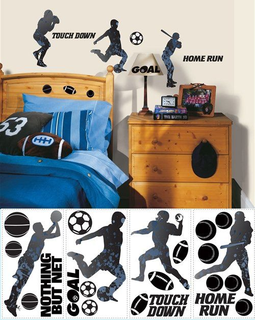Boyu0027s Bedroom   Sports Themed Wall Decals
