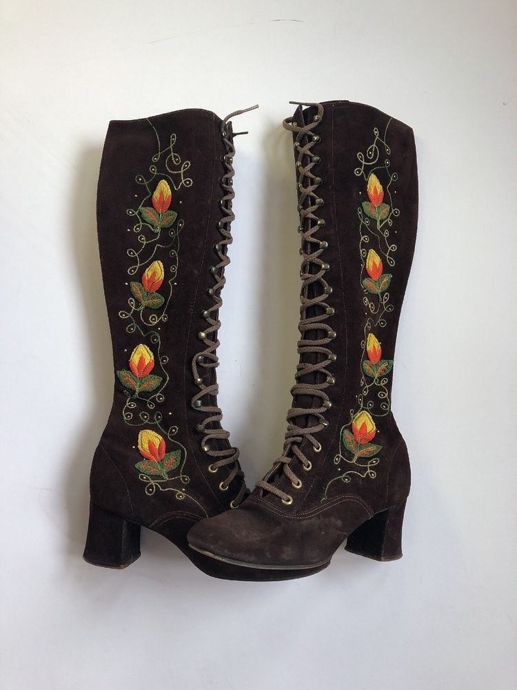 1970s embroidered boots | Embroidered