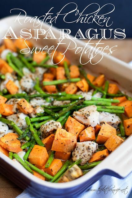 Roasted Chicken with Asparagus and Sweet Potato Recipe