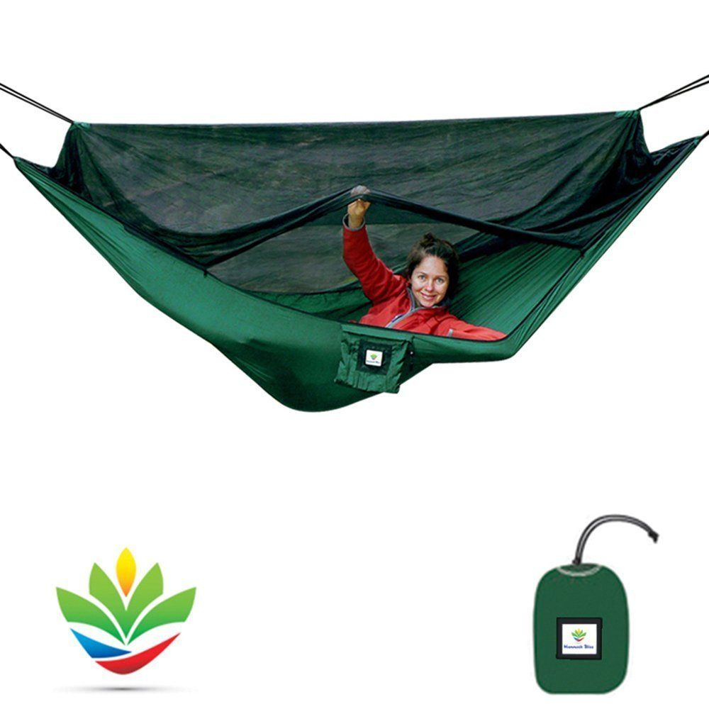 Hammock Bliss No See Um No More The Ultimate Bug Free Hammock With Quality You Can Trust Reversible 100 Rope Per Hammock Camping Hammock Tent Kayak Trip