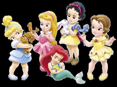 Clipart de Princesas Disney Niñas con sus Mascotas. | Para Bebés ...