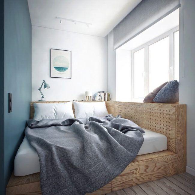 podestbett-bauen-kleines-schlafzimmer-schubladen-140x200 Bänke