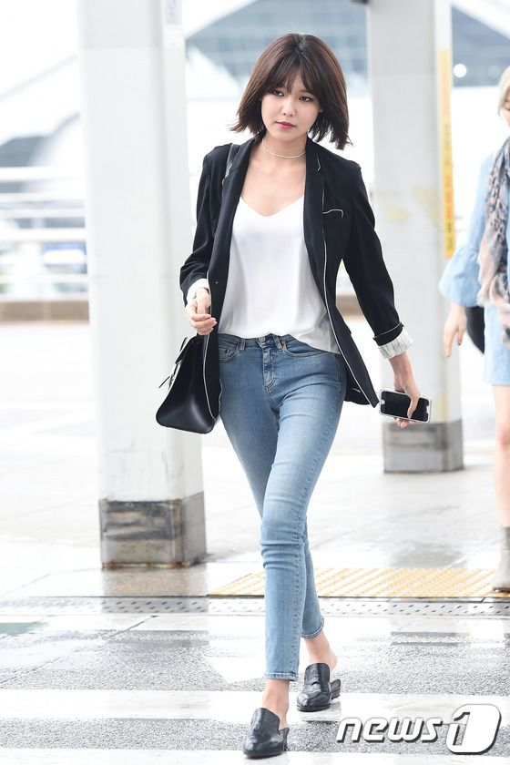 sooyoung airport fashion at incheon airport 160506