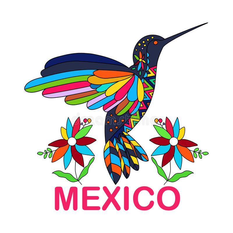 Imagen Del Vector Del Pajaro Mexicano Hummingbirds Tradicional Ilustracion Del Vector Ilustracion De Pluma Arte De Colibri Colibri Dibujo Pinturas Mexicanas