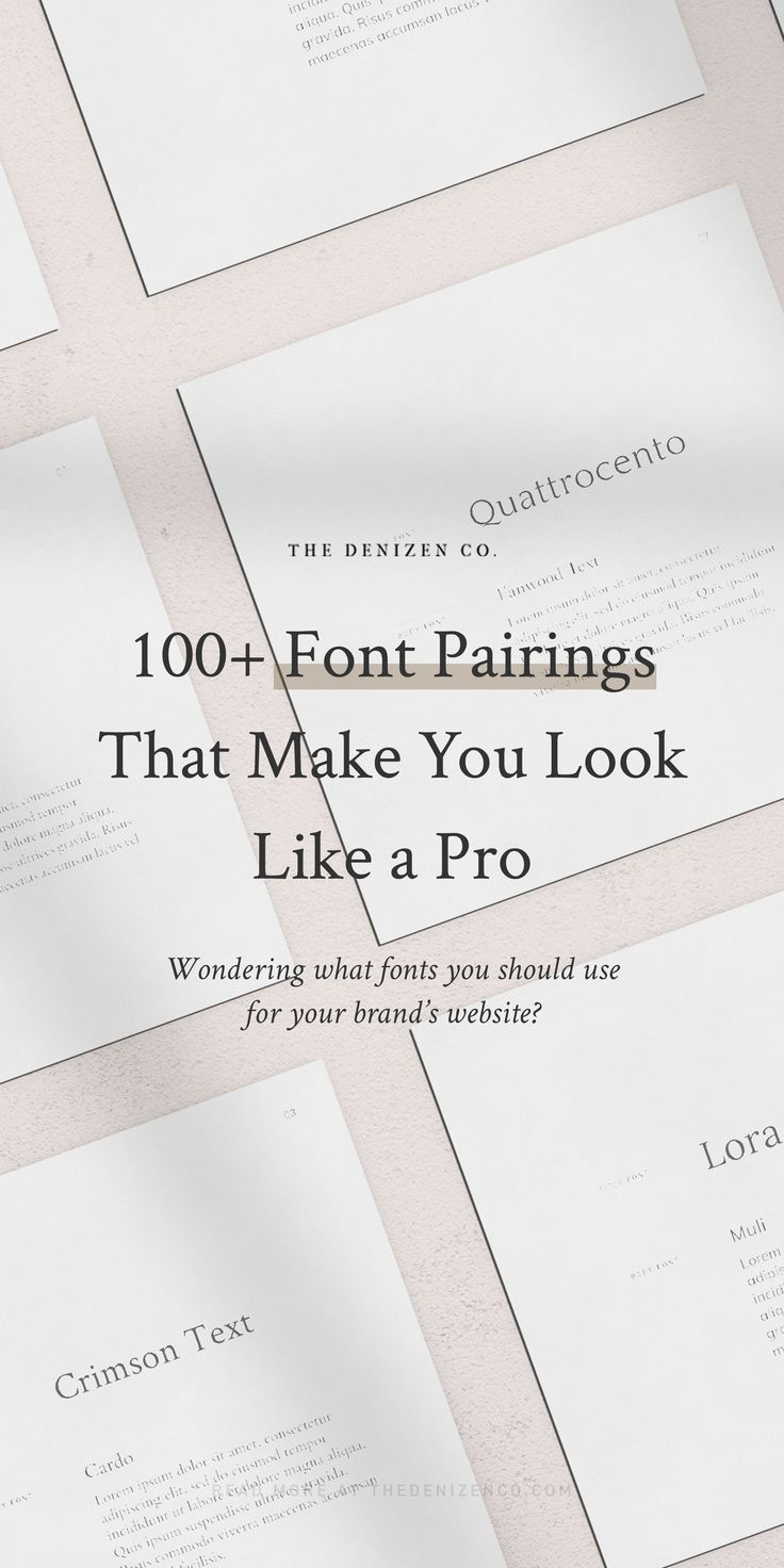 Font Catalog With 100 Designer Approved Typefaces The Denizen