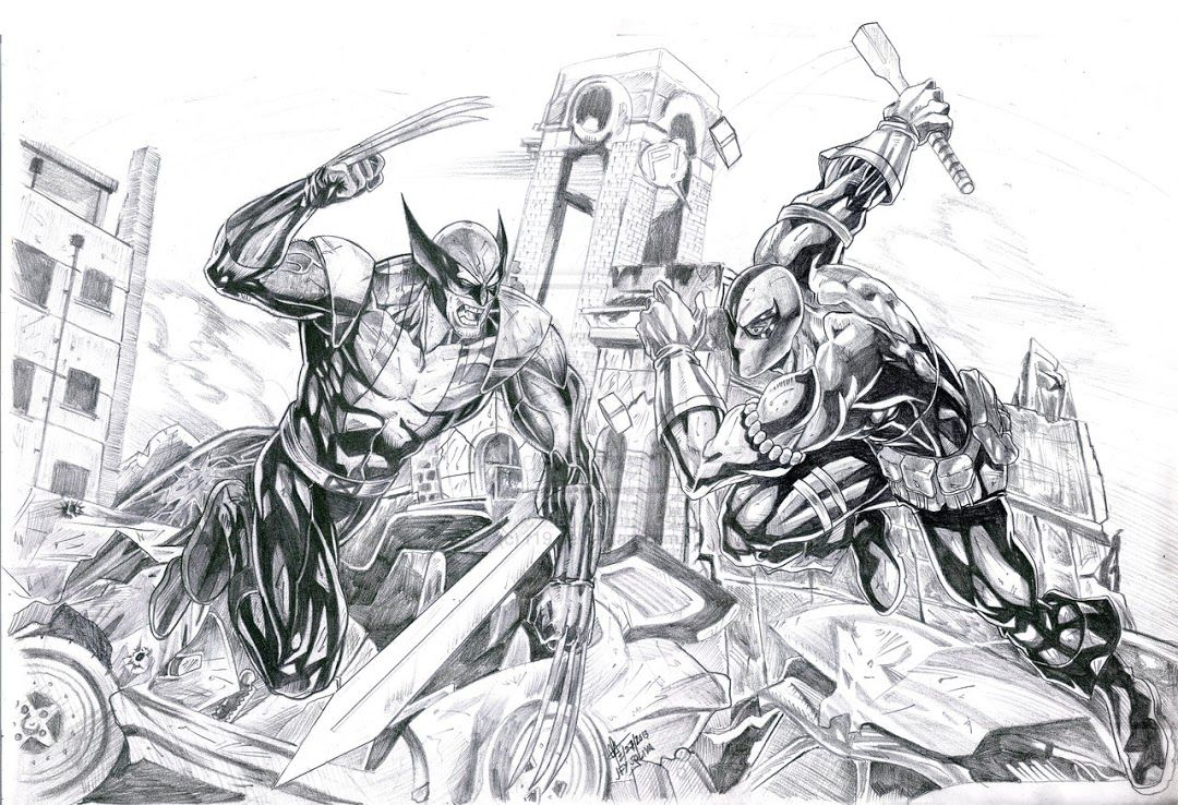 Dc Comics Community Google Wolverine Deathstroke Batman Coloring Pages