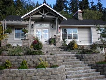 50 S Rambler Exterior Design Ideas Pictures Remodel And Decor Porch Remodel Cottage Exterior Front Porch Remodel