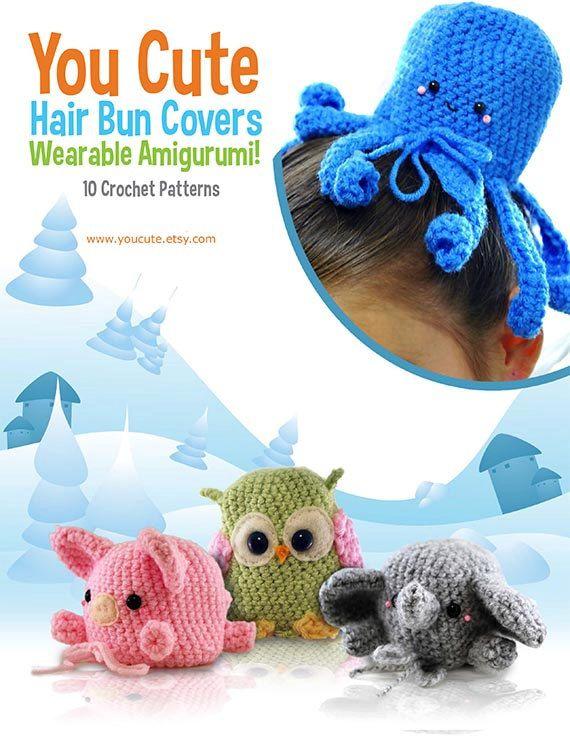 Crochet Pattern Amigurumi Hair Bun Cover Pattern Ebook Crochet I