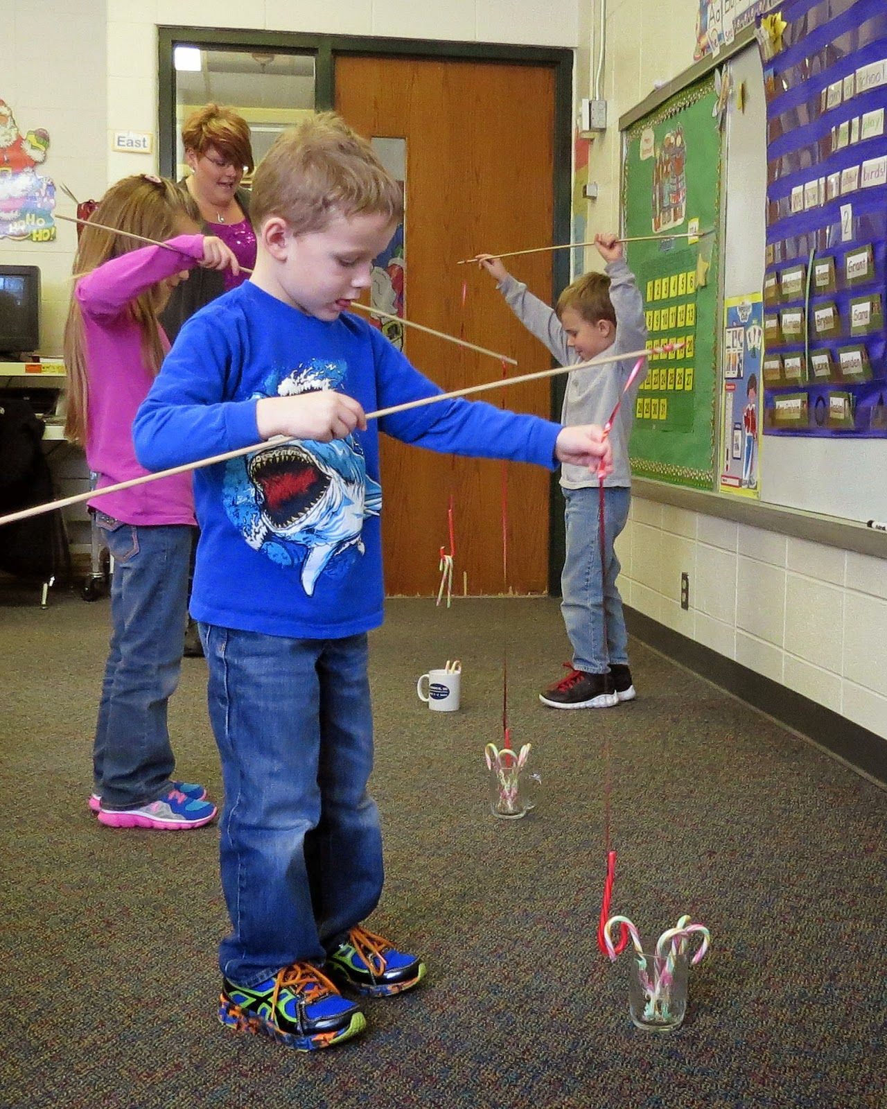 Kindergarten Christmas Party Ideas Part - 30: Candy Cane Fishing More