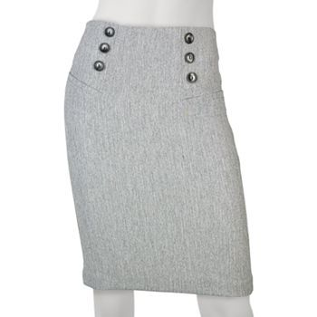 IZ Byer California 6-Button Pencil Skirt - Juniors