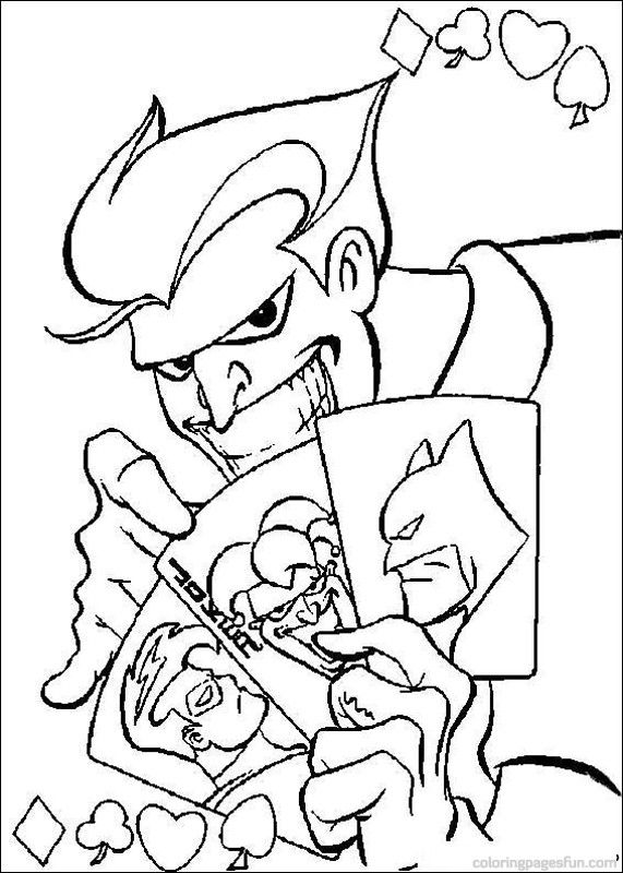Joker Dark Knight Coloring Pages
