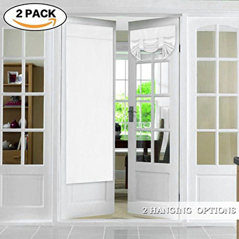 Flamingop Tricia Window Door Curtains Pure White Blackout Curtain