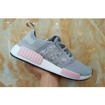 reputable site f3439 921d3 Adidas Originals NMD PK Gray Pink Glitter Sneakers