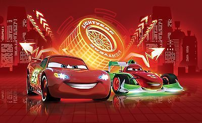 Large Wall Mural Photo Wallpaper For Boys Room Cars 2 Disney Mcqueen Neon Disney Cars Wallpaper Disney Cars Disney Pixar Cars