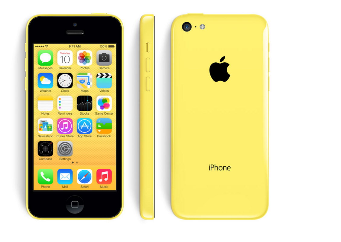 iPhone 5c, yellow cover yellow cover iphone Apple