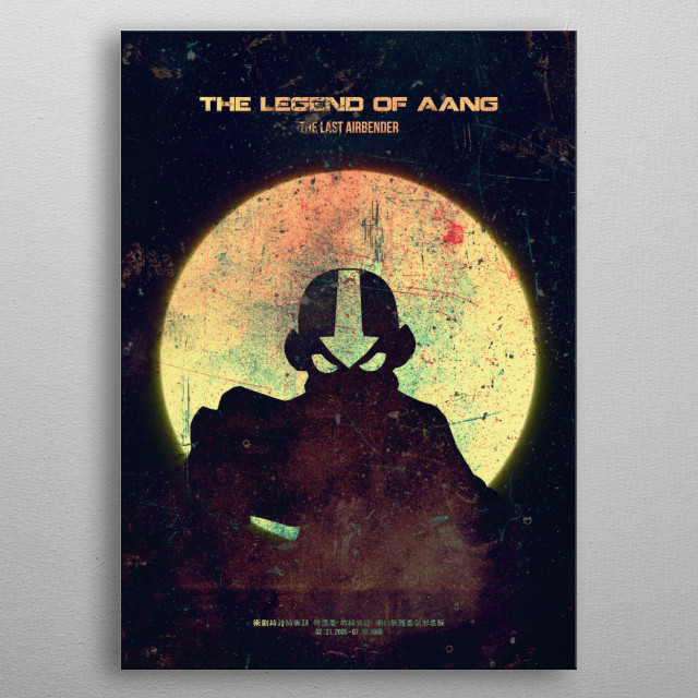 AIRBENDER Minimalistic Poster Print | metal posters - Displate | Displate thumbnail