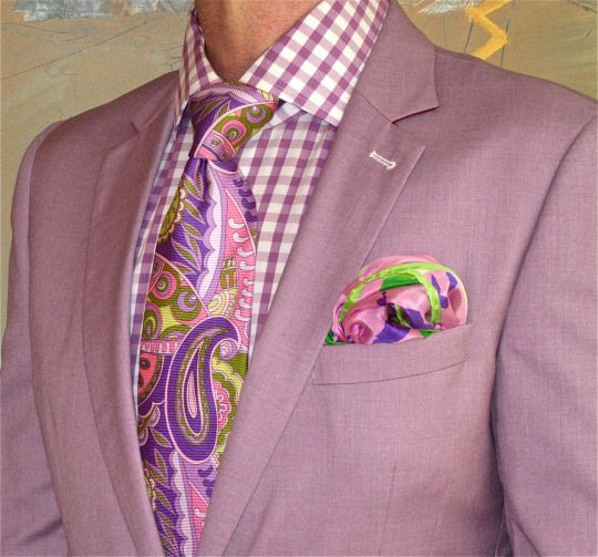 Mauve cotton jacket, Jones New York shirt, Ted Baker tie... #JonesNewYork…