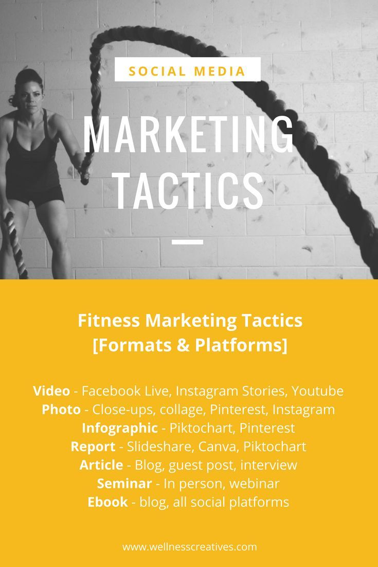 Fitness marketing strategies for gyms studios personal