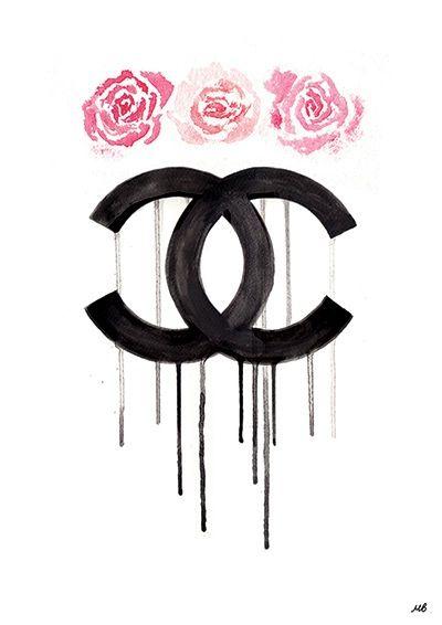 chanel logo chanel logo pinterest deko bilder sch ne menschen und skizzen. Black Bedroom Furniture Sets. Home Design Ideas