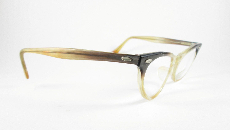 c8b777aa40b Cat Eye Glasses Vintage Brown Ombre Plastic Frames Eyewear Mid Century  VintageHag.com  vintageeyewear