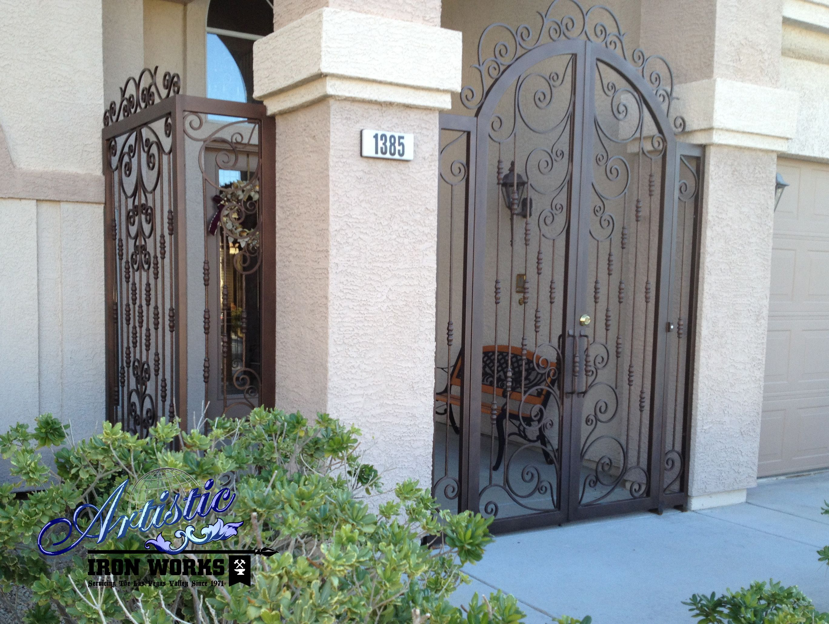 Wrought Iron Entry Gate And Porch Enclosure Wrought Iron Front