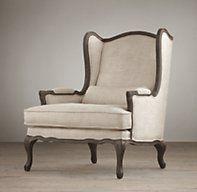 Charmant Lorraine Bergere Chair | Restoration Hardware, $850.