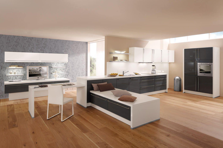 Küche Mit Holzboden: 9 Bilder U0026 Ideen Von Küchen Mit Parkett Und Holzdielen    Küchenfinder Magazin