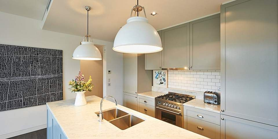 Kitchen Tania Handelsmann Cabinets By A3 Designs Kitchens Subway Tiles In Matt White From Teranova Titan Pendants From House House Auction Kitchen Design