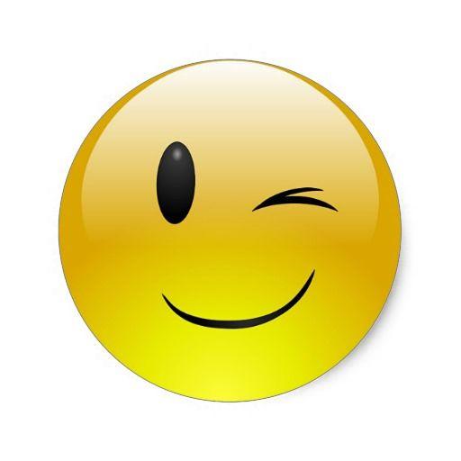 Winking Emoji Smiley Face Custom Sticker Winking Emoji Funny Emoji Faces Emoji Tattoo