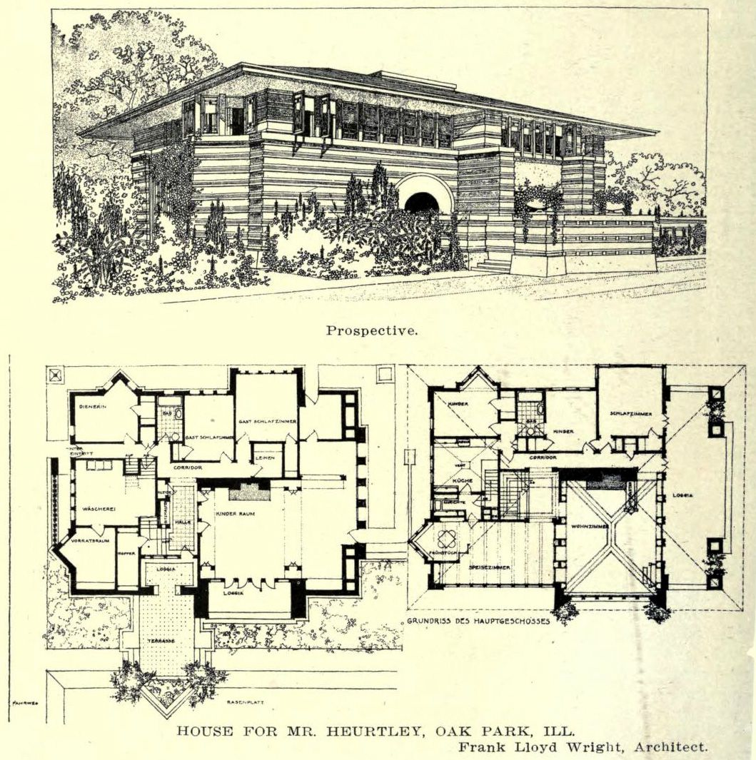 Wright S Design For The Heurtley Residence Oak Park Vintage