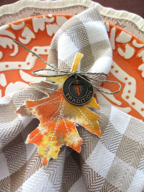 Tattered Leaf Napkins by Paula Cheney   www.rangerink.com