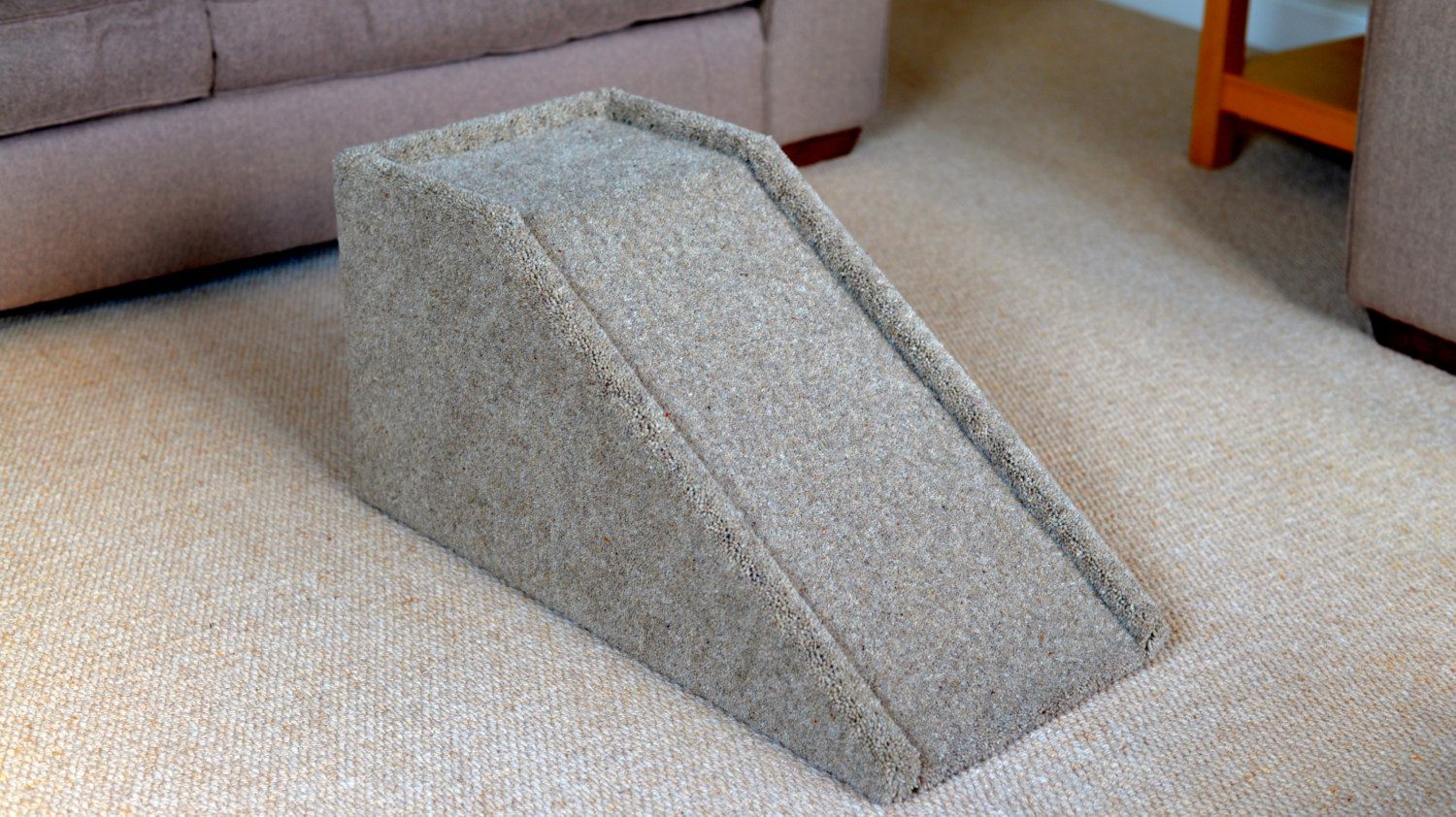 Handmade Carpeted Wood Pet Ramp Steps Stairs For Dogs